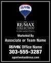 The REMAX Collection Real Estate Hanging Sign Panel with grommets, 24 GA Steel 30x24