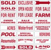 Real Estate Message Sign Rider, 4mm Corrugated Plastic 6x18