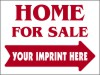 Real Estate Home For Sale Sign Panel, 4mm Corrugated Plastic 18x24