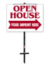real estate open house t-stake frame and sign panel unit, 4mm corrugated plastic 18x24