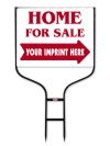 real estate  home for sale round rod frame and sign panel unit, 24 GA steel 18x24