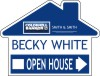 real estate house 3D open house sign panel, 4mm corrugated plastic 18x24