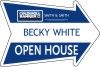 real estate arrow open house sign panel, 4mm corrugated plastic 18x24