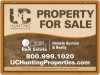 Real Estate Hanging Sign Panel With Grommets, 24ga Steel 18x24
