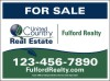 real estate Sign Panel printed on two sides, 24 GA Steel 18x24