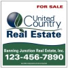 real estate hanging sign panel with grommets,  24 GA steel 20x20