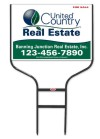 real estate black Round Rod Sign Frame and sign panel unit, 24 GA steel 20x28