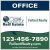 real estate office sign panel printed on one side, 24 GA steel 36x36