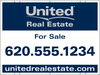 real estate for sale sign panel, 24 GA steel, 18x24