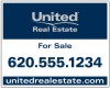 Real Estate Hanging Sign Panel, Steel 24x30
