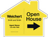 Agent Open House House Shape Sign Panel, 18x24, 4mm