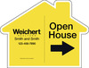 Open House House Shape Sign Panel, 18x24, 4mm