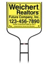 real estate round rod sign frame and panel unit, 24 GA steel 18x24