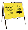 Agent For Sale A-Frame and Sign Panel Unit, 18x24