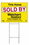 real estate wire S1 h frame stake and sign panel unit, 4mm corrugated plastic 18x24