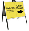 Open House A-Frame and Sign Panel Unit, 18x24 Steel