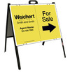 Agent For Sale A-Frame and Sign Panel Unit, 18x24 Steel