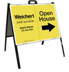 Agent Open House A-Frame and Sign Panel Unit, 18x24 Steel