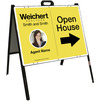 Photo Open House A-Frame and Sign Panel Unit, 18x24 Steel