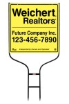 real estate Round Rod Sign Frame and panel unit, 24 GA steel, 24x24