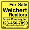Commercial Real Estate for sale Sign Panel printed on one side, 3mm Aluminum Composite 48x48